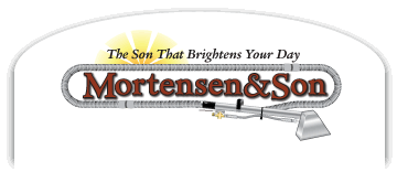 Mortensen and Son carpet cleaning business footer logo